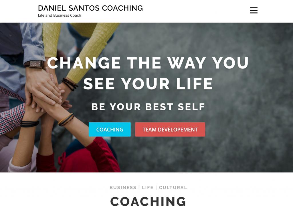 Daniel Santos Business And Life Coach Web Site Affordable Nj Web Design